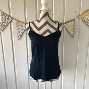 Diane Von Furstenberg Navy Blue Silk Camisole